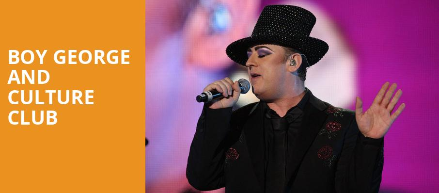 Boy George and Culture Club, Sandia Casino Amphitheater, Albuquerque