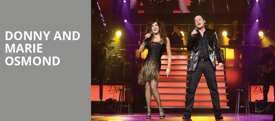 Donny and Marie Osmond, Sandia Casino Amphitheater, Albuquerque